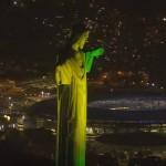 リオデジャネイロオリンピック2016開会式(日本選手団入場・緑で五輪マーク・聖火点灯)